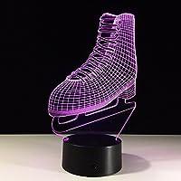 FSHYD 3D Luz de noche , patines luces 3D Control remoto de colores Luz LED táctil Productos creativos Luz de la noche, patines Luz de noche creativa Acrílico color de la luz 3D 3D Luz de la noche luces 3D ( tamaño : REMOTE control )