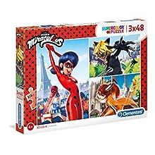 Clementoni-Clementoni-25234-Supercolor Collection-Miraculous-3 x 48 pièces, 25234, Multicolore