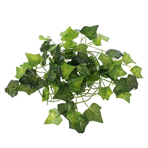 Fliyeong Künstliche Vine Reptile Echsen Terrarium Dekoration Chamäleons Climb Rest Pflanzen Blätter langlebig und nützlich