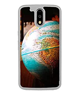 Fuson Designer Back Case Cover for Motorola Moto G4 Plus (Maps Country Atlantic Geography )