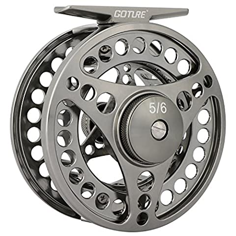Goture Fly Fishing Reel 2+1BB Large Arbor Die Casting Aluminum Fly Reel With Bag