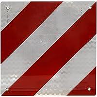 Carga señal de advertencia reflectante para España y italia 50x 50centímetros, color blanco y rojo