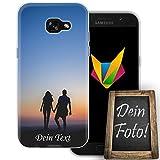 dessana Jahrestag Handyhülle Personalisiertes Geschenk dünne Silikon TPU Case Eigenes Foto Motiv für Samsung Galaxy A5 (2017) Mit Text
