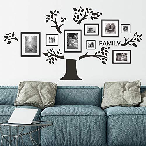 FlyWallD Wandaufkleber mit Stammbaum für Fotorahmen, für Büro, Zuhause, Erinnerungsbaum, Vinyl