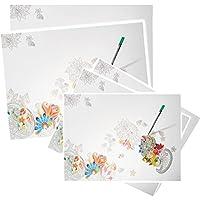 Preisvergleich für alles-meine.de GmbH Set _ Papier - XL Schreibtischunterlagen / Unterlagen - Blüten & Blumen - ..