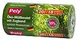pely 8607 - Sacchetti bio per spazzatura, con laccetto, 20 litri, 18 pezzi