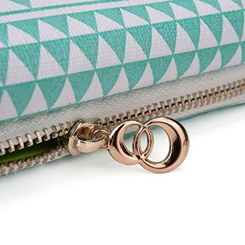 Kroo Pochette/étui style tribal urbain pour unnecto Rush/Air/5,5/ Multicolore - jaune Multicolore - White with Mint Blue