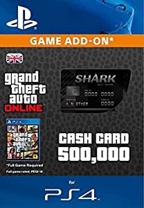 Grand Theft Auto Online | GTA V Bull Shark Cash Card | 500,000 GTA-Dollars | PS4 Download Code ...