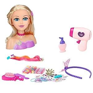 ColorBaby – Busto peluquería Sparkle Girl, 80 piezas (44504) , color/modelos surtido