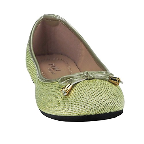 Fashion4Young , Ballerines pour femme Pink Multicolor 36 Or