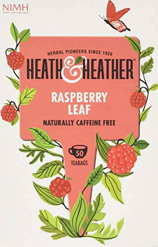 Heath and Heather Raspberry Leaf Tea 50 Teabags (Pack of 3, Total 150 Teabags)