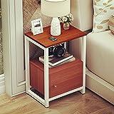 EWYGFRFVQAS Einfacher nachttisch Mount Mini nachttisch Einfacher Schlafzimmer-nachtschrank Schmaler Schrank Wohnzimmertisch in der Nacht-D 35x54x30cm(14x21x12)