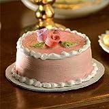 The Dolls House Emporium Rosa & weißer Kuchen mit Rosen