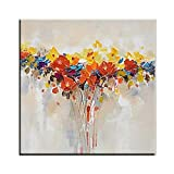 XIAOXINYUAN Moderne Home Decor Wall Art 100% Handgemalte Abstrakte Blume Öl Paintinghandmade Gemälde Bilder 55 X 55 cm