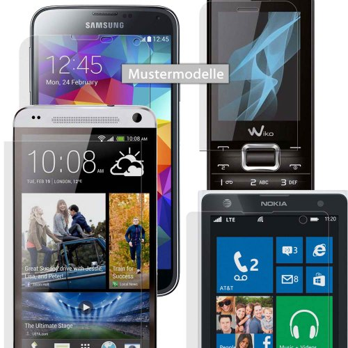 3x easy-top Anti-Shock Displayschutzfolie CrystalClear Schutz Folie für Micromax Canvas Fire 2 A104 (Micromax Canvas Fire 2)