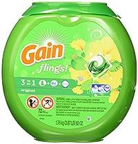 Gain flings! Original Detergent Pacs, 72 ct, 62 oz