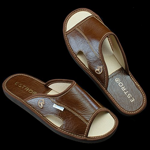 ESTRO Verano, Chaussons Mules Homme Whisky