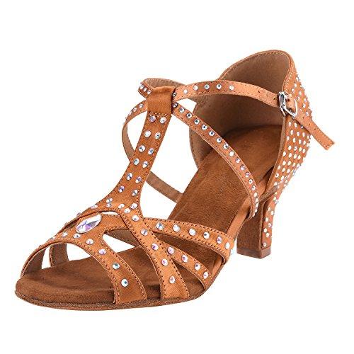 Hxyoo, Zapatos De Baile De Mujer Marrón