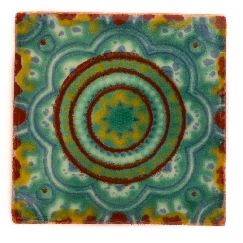 Mexikanischen handgemachten Talavera, 10.5cm Fliesen - Einzelfliese (Dekorative Keramik-wand-fliesen)