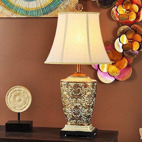 LGK&FABettseit- und Tischlampen klassische Hohl, klassische Vase geschnitzt, Wohnzimmer, Bett, Schlafzimmer, Tischleuchte 42 * 76 cm, Fernbedienung Glas Geblasen Vase