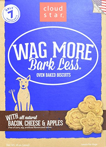 Cloud Star Wag More im Ofen gebackene Kekse–473ml, Speck, Käse und Apfel (Speck-käse-kekse)