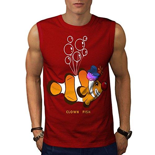 wellcoda Anemonenfisch Clown Blase Männer 3XL Ärmelloses T-Shirt