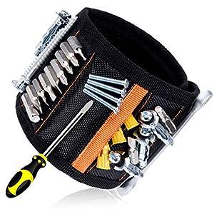 Rovtop Polsiera magnetica con 15 Magneti Robusti, Braccialetto Magnetico, salva le mani, fissa facilmente viti, chiodi… 51Y6IBoBmlL. SS300