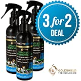 3 For 2 Deal - 7 Day Dry Dog Shampoo, Fur Protector and Conditioner, Spray & Go, New Long-Lasting Anti-Bacterial Formula, for Grooming Dogs, Cats and