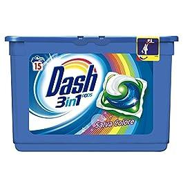 Dash PODS 3 in 1 Detersivo Lavatrice in Monodosi Salva Colore, 45 Lavaggi