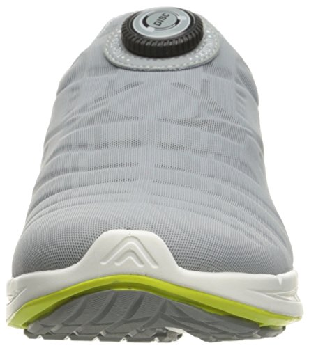 Puma Ignite Disc Synthétique Chaussure de Course Quarry-White-Safety Yellow