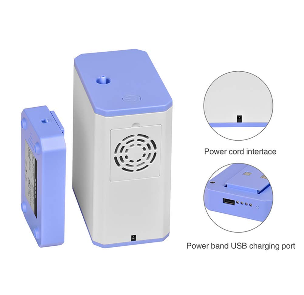 51Y6L50D3fL - ZBLL 3L/Min Portable O2 Machine, Oxyen Concentrator for Home And Travel Air Purifier Machine