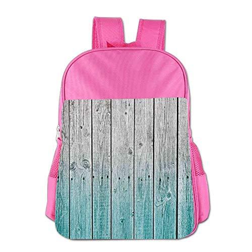 Lovely Schoolbag Blue Wood Panels Children School Backpack Carry Bag for Youth Boy Girl