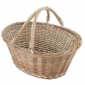 Oval Wicker Shopping Basket 370mm