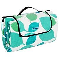Songmics 200 x 200 cm Picnic Blanket Waterproof Backing Outdoor Beach Picnic Rug Mat with Handle GCM78Y