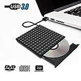 Unità DVD esterna USB 3.0 Lettore DVD portatile, Paragala Eccellente CD Unità DVD Masterizzatore di masterizzatore con pulsante a sfioramento Unità CD esterna per notebook e desktop Mac Notebook