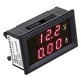 PIXNOR LED Digital Amperemeter Voltmeter DC 4.5-30V 0-200A Digital Multimeter (Rot)