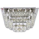 LICHT-TREND LED-Deckenlampe 44W Kristall 50x50 cm chrom
