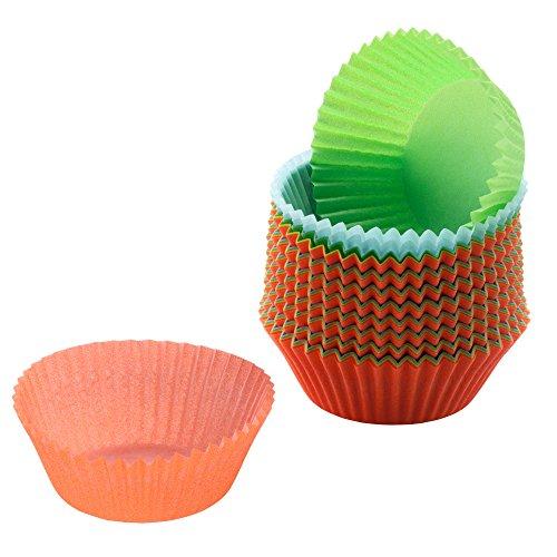 KAISER Muffin-Papierbackförmchen 150 Stück farbig sortiert Ø 7cm Creativ hochwertiges und leicht ablösbares Papier fettdicht ideal für süß und herzhaft