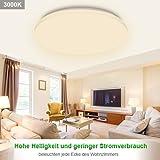 Geyang LED Deckenleuchte, 24W φ30cm Weiß Deckenlampe wasserdichte IP44 Deckenbeleuchtung 1900 LM Leuchten Wohnzimmer-Lampe [Energieeffizienzklasse A ++]