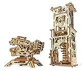 UGEARS 70048 Balliste und Turm Militärmodell Historische 292 Teile Modell mit Mehreren Funktionen - Wiederbelebe Legendäre Mittelalterliche Artillerie Schlachten Modellbausatz aus Holz