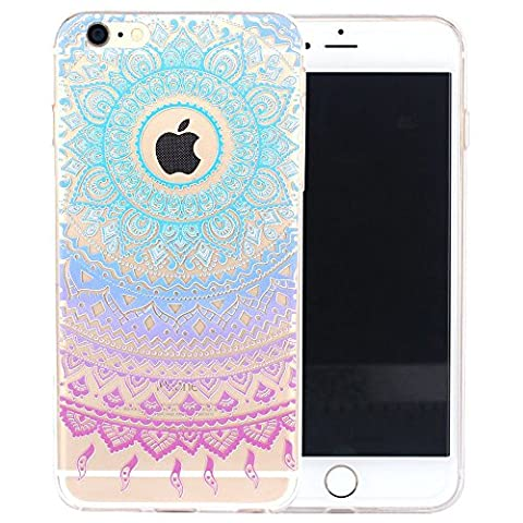 iPhone 5s Case,SpiritSun Plastic Hard PC Back Cover for Apple iPhone 5 SE Ultra Slim Transparent Stylish Floral Pattern Design Protective Skin Blue Tough Lightweight Clear Bumper Protection - Purple Tribal