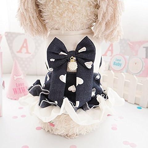YU-K Cani abbigliamento abbigliamento piccolo cane mezzo abbigliamento abbigliamento cane cane grande vestiti bow tie serie L