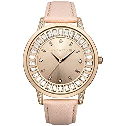 Little Mistress Women's Quartz Watch with Rose Gold Dial Analogue Display and Purple Strap LM019