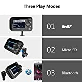 from FirstE FirstE CarDAB/DAB+RadiowithFMTransmitterBluetooth Handsfree Call, Wireless MP3 Player Music Receiver, Portable Digital Radio Broadcast with USB Car Charger/ SD Card/ AUX Output/ 2.3 LCD Display