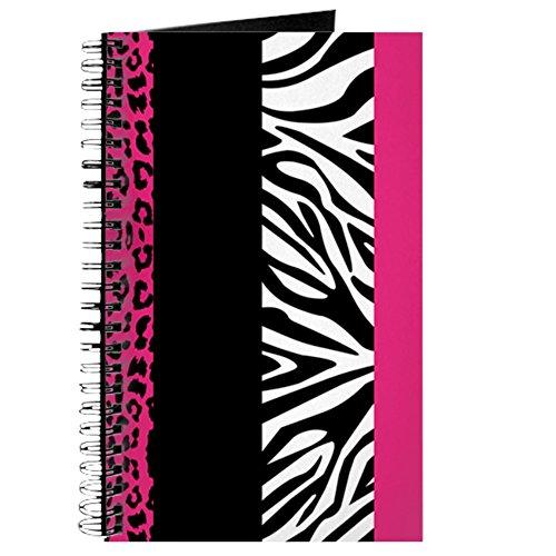 Pink Animal Print Streifen Zebra Leopard Journa–Spiralbindung Journal Notebook, persönliches Tagebuch, Dot Grid (Geparden-print-pink)
