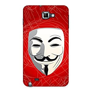 Premium Red Anonymous Mask Back Case Cover for Galaxy Note