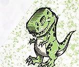 Panel Softshell T-Rex - weiß Eigendruck BioBunt