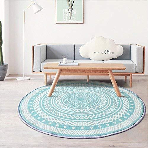 BAIF Runder Teppich, Computer Stuhl Kissen drehstuhl pad, Schlafzimmer Nacht teetisch Sofa Yoga Rutschfeste Matte Wohnzimmer Krabbeln Matte (größe: 200 cm)