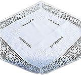 wunderschöne Tischdecke 60x60 cm edler Stil tolle BAUMWOLLoptik HÄKELSPITZE weiß BAUERNDECKE Landhaus (Mitteldecke 60x60 cm)