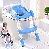 SQ Pro blau Teddie Baby Training WC-Leiter Töpfchen Sitz mit Treppe
